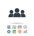 people icon group of humans sign vector image vector image