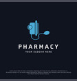 pharmacy logo design with typography and dark vector image