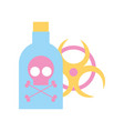 poison bottle hazard danger radiation sign vector image