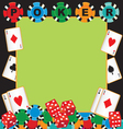 poker party gambling invitation vector image