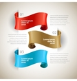 ribbons Design infographics template vector image vector image