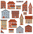 seamless flat house pattern-05 vector image vector image