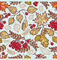 seamless pattern autumn deciduous ornament vector image vector image