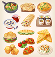 set colorful vegetarian food vector image vector image