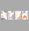 set modern fashion cover templates hand drawn vector image vector image