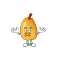 silent fragrant pear cartoon character with mascot vector image vector image