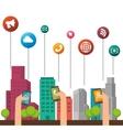 smart city design vector image vector image