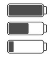 smartphone or cell phone low battery icon low vector image vector image