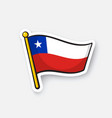 sticker national flag chile vector image