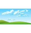 Summer landscape with beautiful clouds vector image