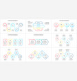 thin line elements set for infographic template vector image vector image