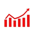 Up rising red arrow Statistic graphic vector image vector image