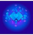 Valentine Blue Background vector image