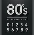 vintage sans serif alphabet retro typography font vector image vector image