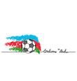 welcome to baku simple soccer football banner vector image vector image