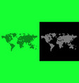 world map free from map style on background vector image vector image