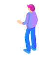 young boy icon isometric style vector image