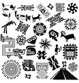 Ancient America set small vector image