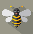 Modern Flat Design Bee Icon vector image