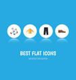 flat icon clothes set of pants banyan male vector image