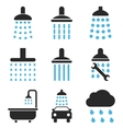 Shower And Bath Icon Set vector image
