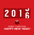 2016 New Year Card Odometer Style vector image vector image