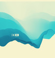3d wavy background dynamic effect water vector image vector image