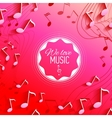 Abstract background with music key and notes vector image