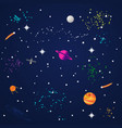 abstract cosmos background with planets and stars vector image vector image