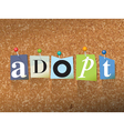 Adopt Concept vector image vector image