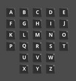 alphabet plastic tiles for puzzling words vector image vector image