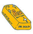 aurum bar icon hand drawn style vector image