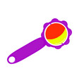 baby rattle symbol icon design newborn toy vector image