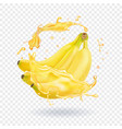 banana fresh juice fruit icon vector image vector image