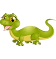 beautiful green lizard vector image vector image