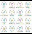 bright communication and internet linear round vector image vector image