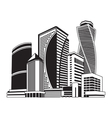 buildings high-rise cityscape vector image vector image