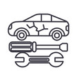 car service line icon sign vector image vector image