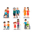 caring disabled person handicapped people with vector image vector image