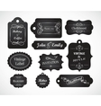 Chalkboard hand written vintage invitation vector image vector image