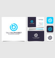 chat and letter b logo with business card
