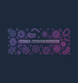 china coronavirus colored linear horizontal vector image vector image