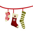christmas socks for gifts vector image
