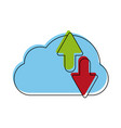 cloud computing symbol vector image vector image