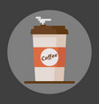 coffee cup icon with text coffee on grey vector image