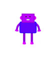 colored robot in cartoon style isolated vector image vector image