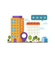 concept online booking vector image vector image