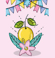 cute lemons summers cartoons vector image vector image