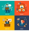 Executive icons flat vector image vector image