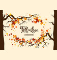 fall maple leaves vector image vector image